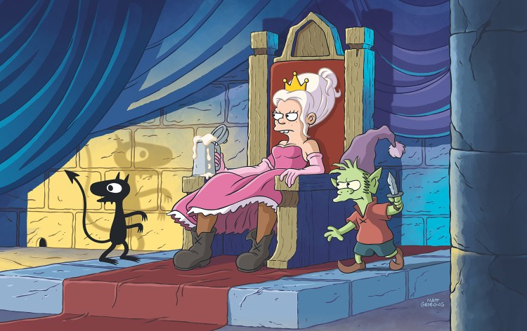 disenchantment netflix 3 1024x645 Ouh Pinaise ! la nouvelle série du créateur des Simpsons se révèle en images