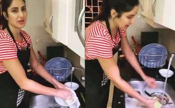 Katrina Kaif Washing Dishes