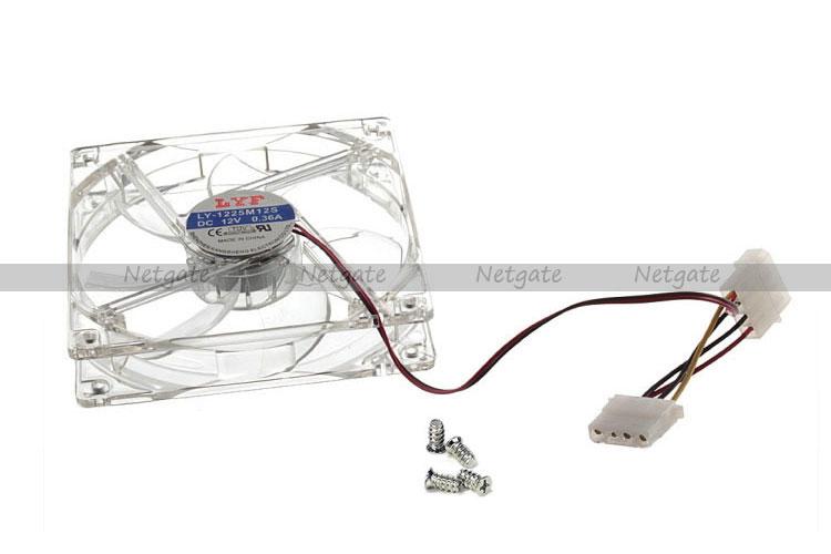120MM Silent Case Fan With Blue Colour LEDS + 4 Pin Molex