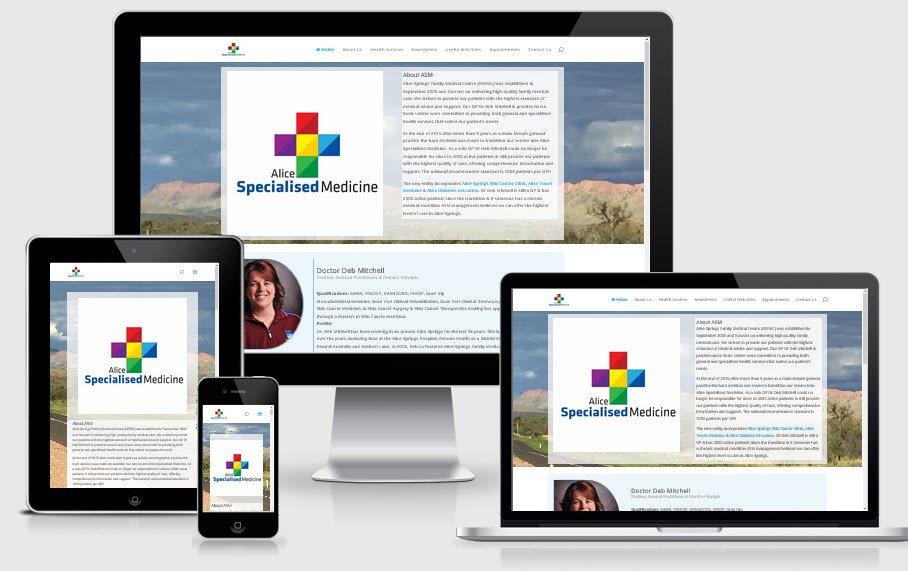 Alice Specialised Medicine – 4 interlinked web sites