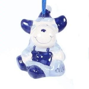 Christmas Ornament, Delft Blue, Reindeer - Woodenshoefactory Marken