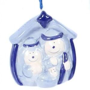 Christmas Ornament, Delft Blue, Nativity Scene - Woodenshoefactory Marken