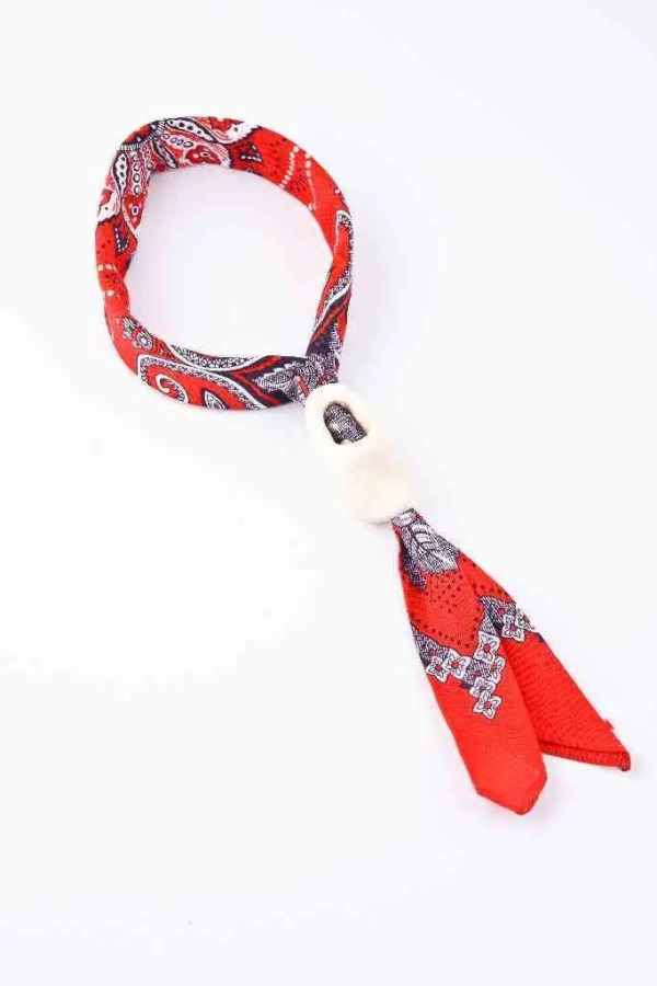 Traditional Dutch Scarf with Plain Clog - Woodenshoefactory Marken
