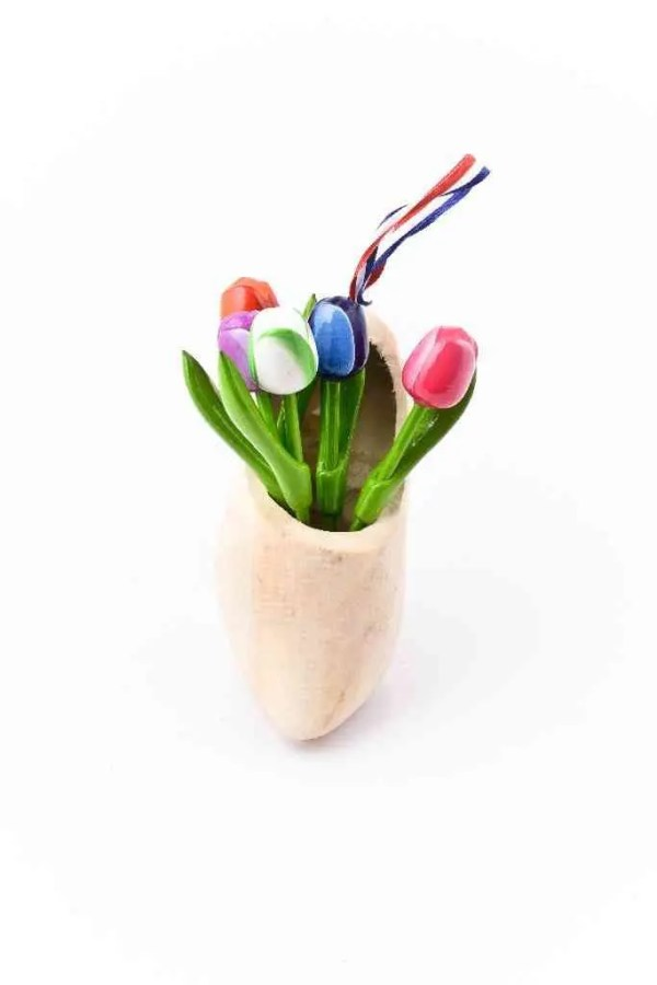 Wooden Shoe with Tulips - Woodenshoefactory Marken