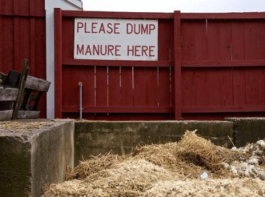 Please Dump Manure Here