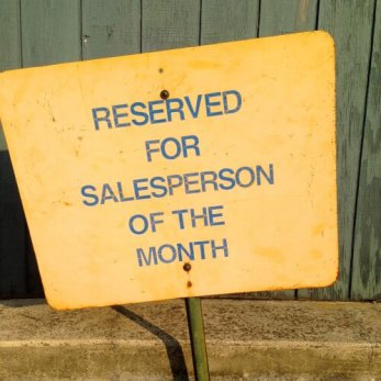 Reserved for salesperson of the month