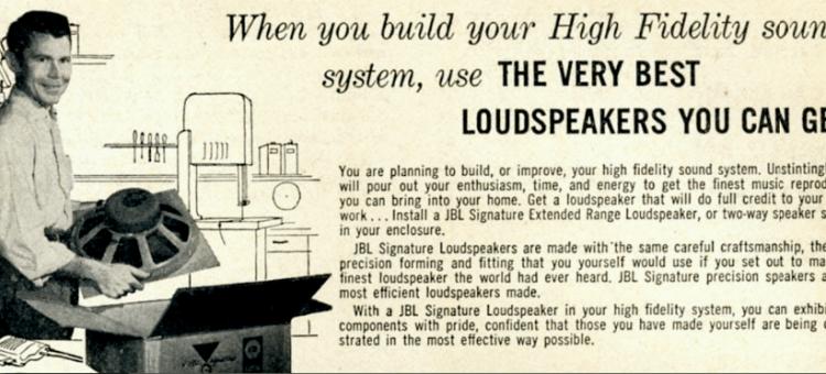 vintage picture of man with loudspeaker