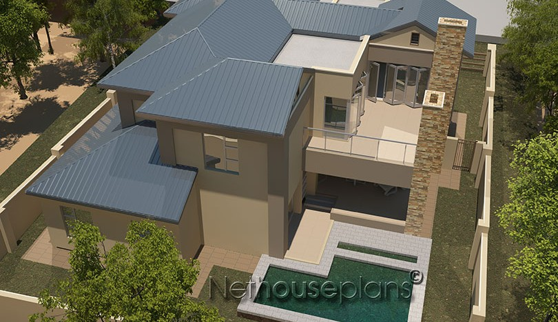 house plans south africa, house designs in south africa, South african house designs, architectural designs in south africa, Modern contemporary style house plan, 4 bedroom , double storey floor plans,