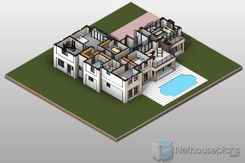 Modern 4 Bedroom House Plan [PDF Download] For Sale | NethouseplansNethouseplans