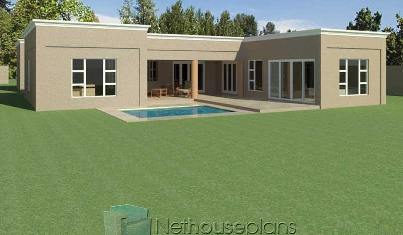 Modern Flat Roof House Plans 304sqm House Designs ...