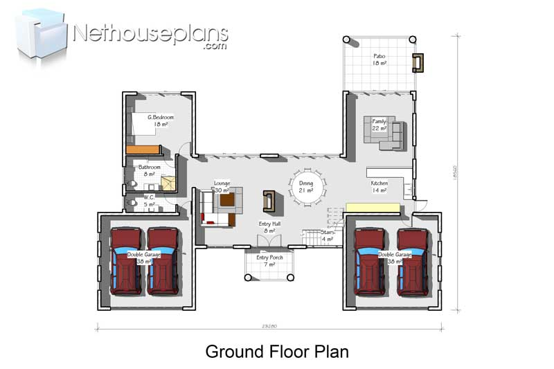 Double storey house plans with 4 garages, House plan South Africa, House plans with photos, 4 bedroom house plan, double story 4 bedroom house plan, double story house plan, Modern house plans pdf downloads, Nethouseplans