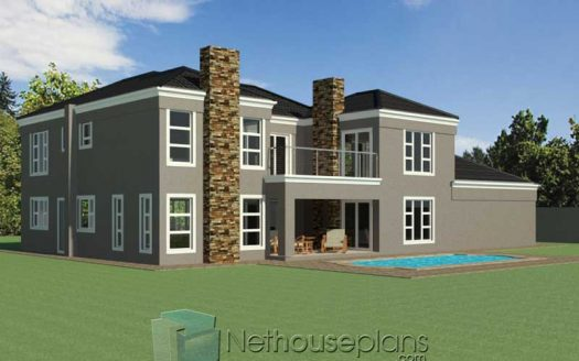 Simple double story house design 4 bedroom double storey house plan Modern house design tuscan house design in South Africa Nethouseplans
