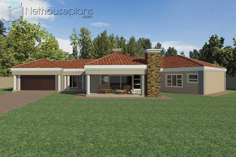 5-Bedroom-Modern-House-Plans-South-Africa_T363_Front-View ...