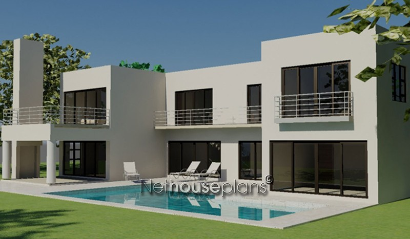 Double storey house plans South Africa House plans Modern style house plan south africa, 4 bedroom, double storey floor plans