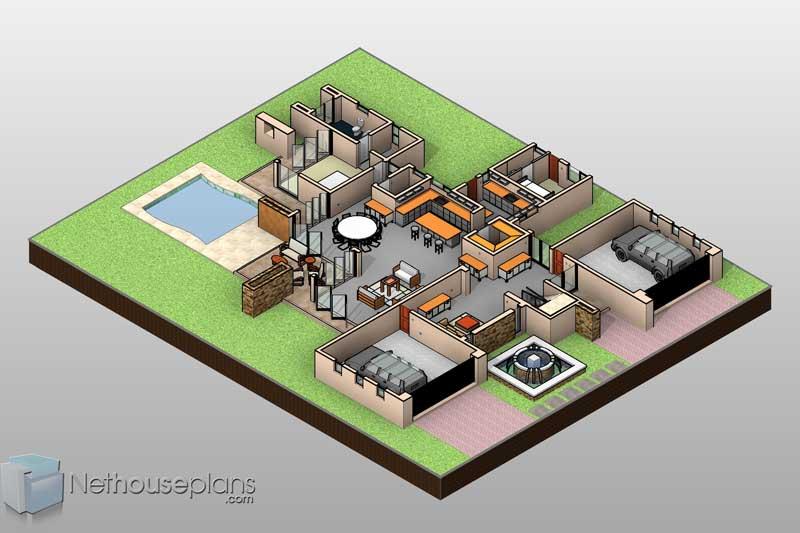 4 Bedroom Modern House Plans Modern House Designs Nethouseplansnethouseplans