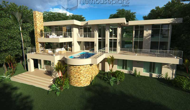 Unique 3 Storey House Plan | 6 Bedroom House Design ...
