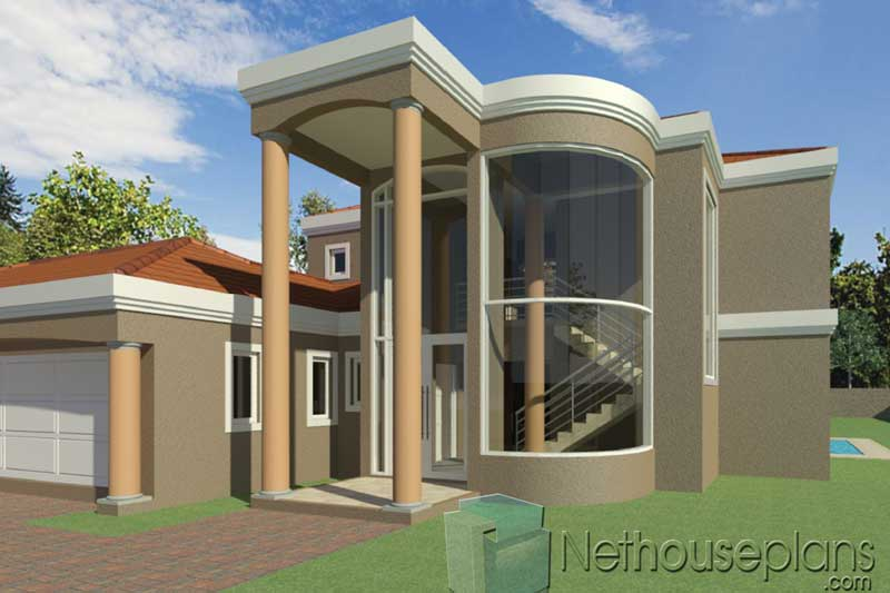 A Double Storey 5 Bedroom Home Designs Net House Plans South Africanethouseplans,Low Budget Small Backyard Landscaping Ideas