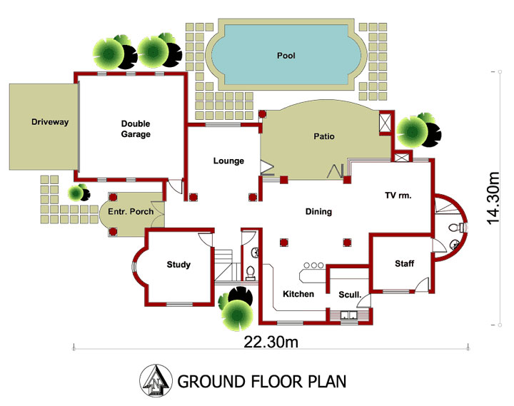 3 Bedroom House Plans T343d Nethouseplans