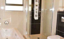 renovate bathroom, building plans, floor plans, shower, bath tub, toilet, floor tiles nethouseplans.com