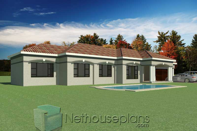 3-Bedroom-House-plans-South-African_T195_North-East-View ...