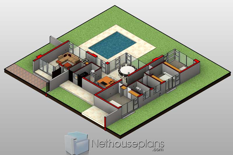 Modern 3 Bedroom House Plans South Africa| Single Storey ...