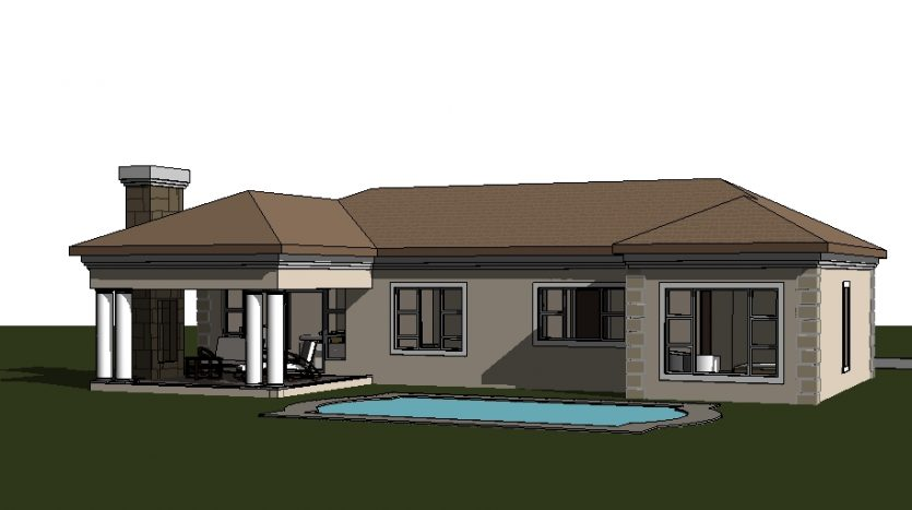 Four Bedroom House Plan Drawing 189sqm Tuscan house designs in South Africa, house plans south africa, 3 bedroom house plans, single storey house plan floorplanner ranch house plan home design