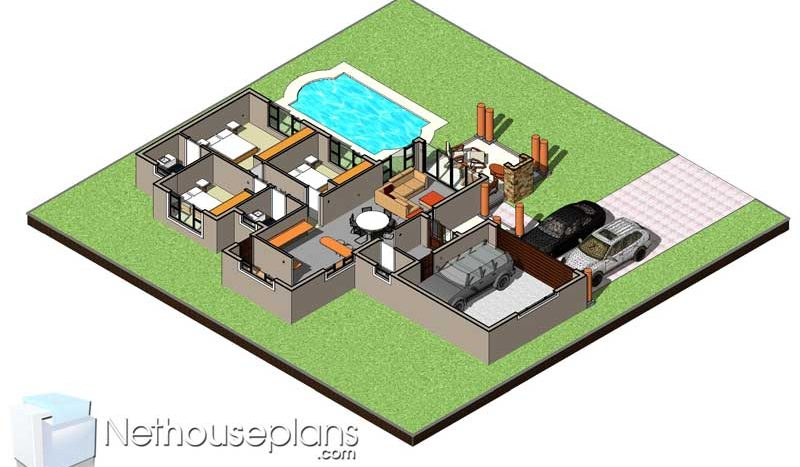 3d FLOOR PLANS 3d HOUSE DESIGNS modern 3D house plans designs Nethouseplans