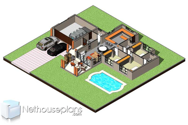 Simple three bedroom house plans in Gauteng 3 bedroom house floor plans in Cape Town Nethouseplans