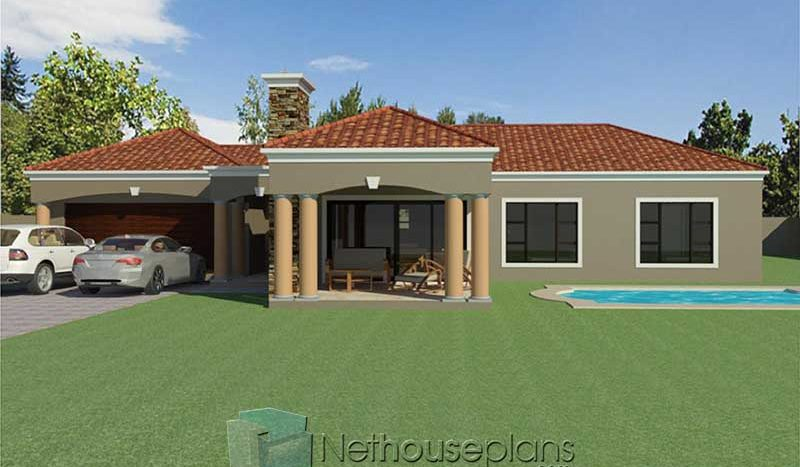 3 bedroom house designs Tuscan house plans South Africa Nethouseplans