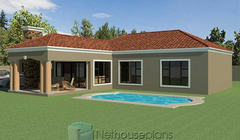 3 bedroom house designs with swimming pool Nethouseplans