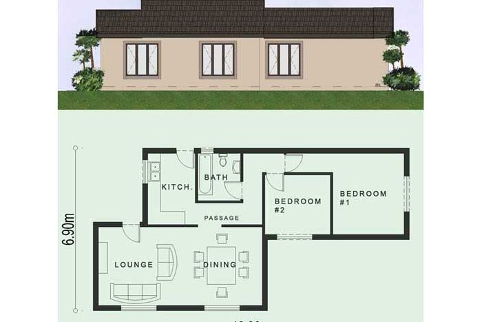 Simple House Plans | 2 Bedroom House Plans South Africa ...