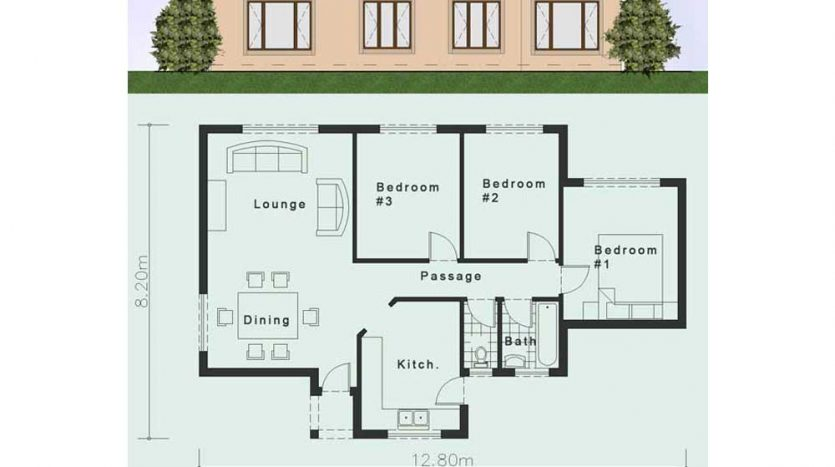 Simple House Plans Clutter Free 3 Bedroom House Plans Nethouseplansnethouseplans