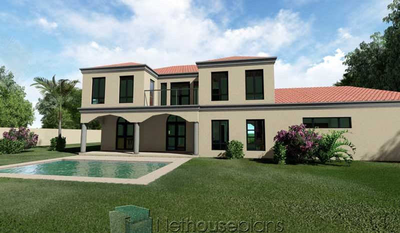 4 bedroom house plans with photos double storey house design Tuscan style South african house plans back side view Nethouseplans