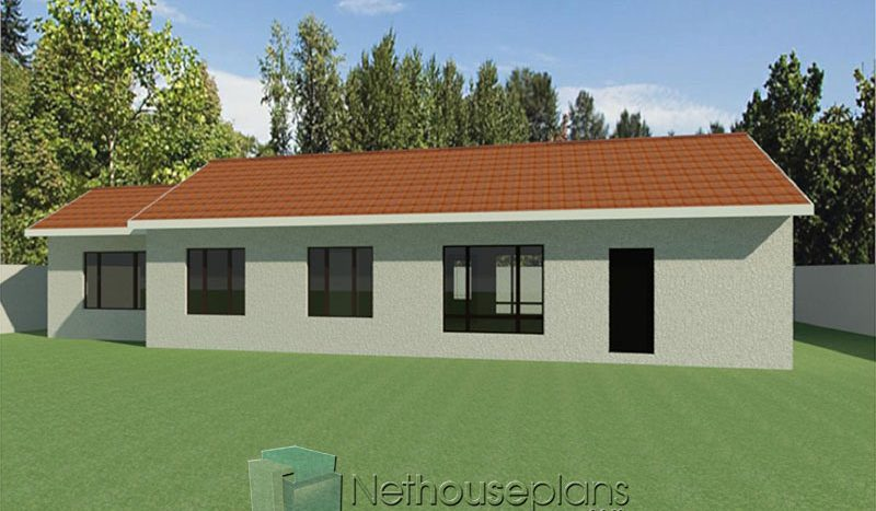 north facing 3 bedroom house plans one storey house plans for sale Nethouseplans