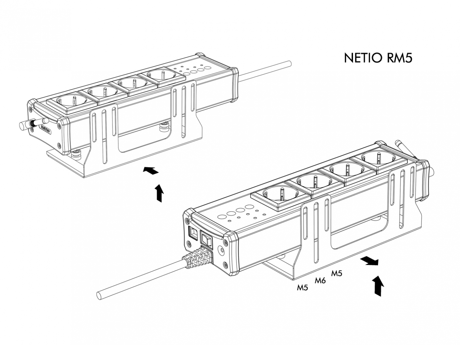 medium resolution of rack mount kits allow you to install netio 4 4all power socket to rack frame