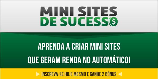 Mini Sites de Sucesso Saiba Mais..