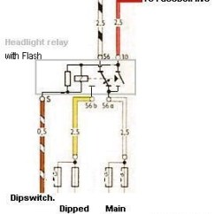 Wiring Diagram For Headlight Dimmer Switch Yamaha G2 Golf Cart Starter Generator Speedy Jim S Home Page Aircooled Electrical Hints