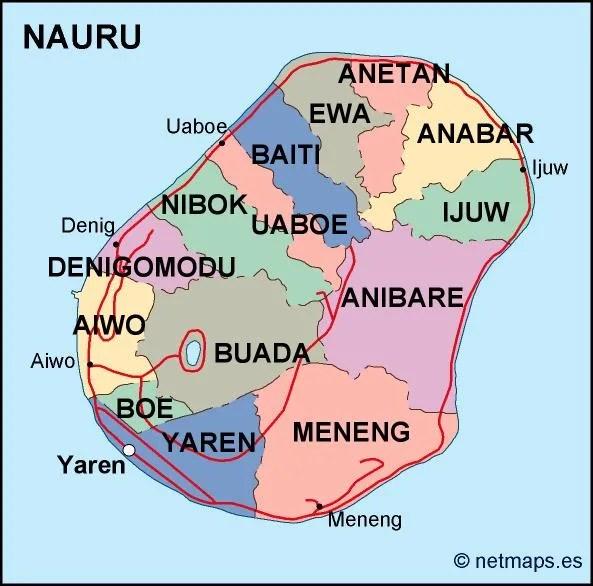 Resultado de imagen de MAPA DE NAURU