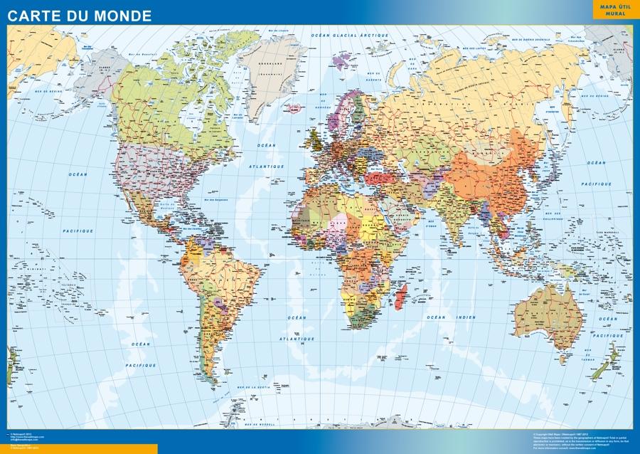 carte monde geante