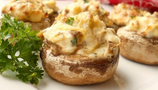 Spinach-Artichoke Stuffed Mushrooms-Netmarkers