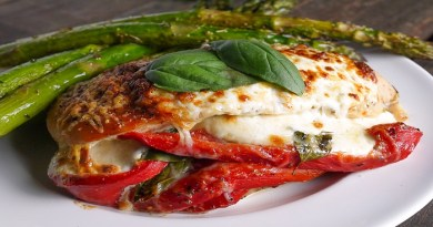 Red Pepper, Mozzarella, and Pepperoni-Stuffed Chicken Recipe-Netmarkers
