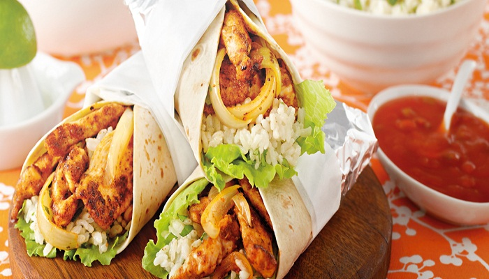 Easy-Chicken-Rice-Burritos-Netmarkers