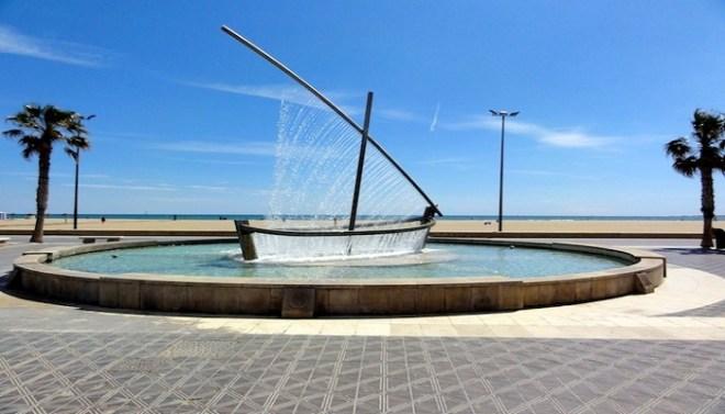 Water Boat Fountain, Spain