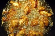 deep frying chicken