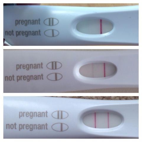 Very faint line on a pregnancy test