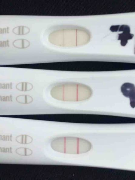 3 weeks late period faint positive lines on first ...