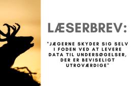 Læserbrev: DJ bidrager til ikke lødig vildtforskning
