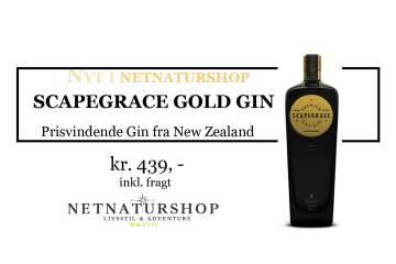 Nyt i Netnaturshop.dk: Scapegrace Gold Gin
