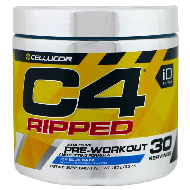 Cellucor C4 Ripped Pre-workout Cutting Formula Icy Blue ...