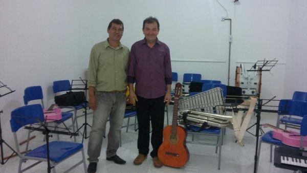 Inauguração da escola de música de São Mateus.